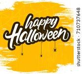 halloween banner calligraphy... | Shutterstock .eps vector #710737648
