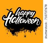 halloween banner calligraphy... | Shutterstock .eps vector #710737678