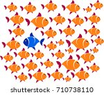 dare to be different concept ... | Shutterstock .eps vector #710738110