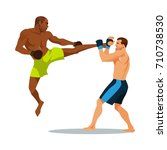 two boxing man. vector... | Shutterstock .eps vector #710738530