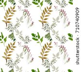 seamless floral pattern with... | Shutterstock . vector #710740909