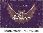 halloween celebration design... | Shutterstock .eps vector #710742088