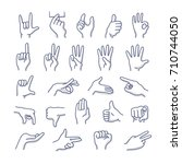 collection of hands in... | Shutterstock .eps vector #710744050