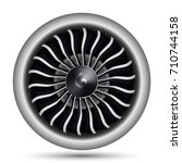 realistic 3d turbo jet engine... | Shutterstock .eps vector #710744158