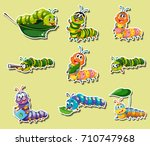 sticker set with different... | Shutterstock .eps vector #710747968