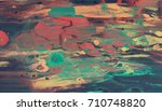 marbled diy paper made with... | Shutterstock . vector #710748820