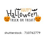 happy halloween. vector... | Shutterstock .eps vector #710762779