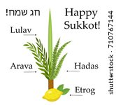 happy sukkot set  educational... | Shutterstock .eps vector #710767144