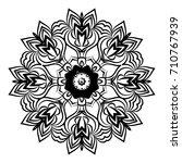 hand drawn henna ethnic mandala.... | Shutterstock . vector #710767939