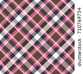 seamless tartan plaid pattern.... | Shutterstock .eps vector #710769754