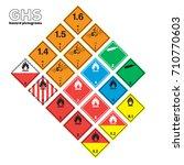 ghs warning icon transportation ... | Shutterstock .eps vector #710770603
