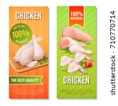 vertical banners with chicken... | Shutterstock .eps vector #710770714