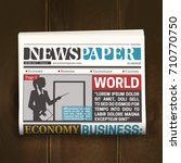 newspaper front page poster...   Shutterstock .eps vector #710770750