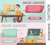online education banners in... | Shutterstock .eps vector #710773078