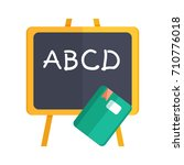 teaching board icon  | Shutterstock .eps vector #710776018