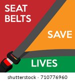 seat belts save lives. vector... | Shutterstock .eps vector #710776960