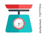 weight scale icon | Shutterstock .eps vector #710777014