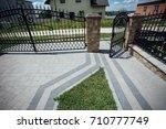perspective view of monotone...   Shutterstock . vector #710777749
