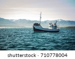 icelandic fishing boat for... | Shutterstock . vector #710778004
