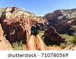amazing view of angels landing...   Shutterstock . vector #710780569