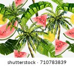 beautiful seamless vector... | Shutterstock .eps vector #710783839