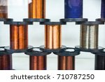 a lot of coils with copper ... | Shutterstock . vector #710787250