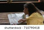 beautiful caucasian female...   Shutterstock . vector #710790418