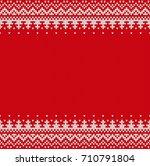 seamless knitting pattern.... | Shutterstock .eps vector #710791804