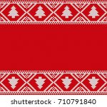 seamless knitting pattern.... | Shutterstock .eps vector #710791840