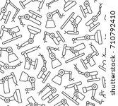 industrial robots pattern... | Shutterstock .eps vector #710792410