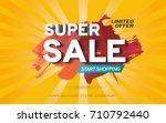 sale banner template design on... | Shutterstock .eps vector #710792440