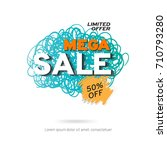 sale banner template design.... | Shutterstock .eps vector #710793280