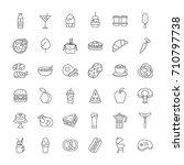 set of food and drink icons... | Shutterstock .eps vector #710797738