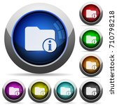 directory info icons in round... | Shutterstock .eps vector #710798218