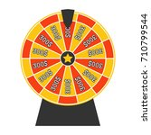 spinning wheel of fortune.... | Shutterstock . vector #710799544