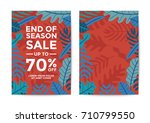 nature sale poster and flyer... | Shutterstock .eps vector #710799550