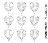 Set Of Air Balloon Icons....