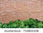 red brick wall texture grunge... | Shutterstock . vector #710803108