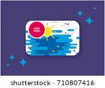 colorful gift or discount card. ... | Shutterstock .eps vector #710807416