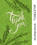 thanksgiving greeting card on a ... | Shutterstock .eps vector #710813749