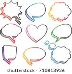 a set of comic speech bubbles... | Shutterstock .eps vector #710813926