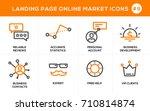 flat line design concept icons... | Shutterstock .eps vector #710814874