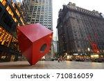 new york city   august 24  red... | Shutterstock . vector #710816059