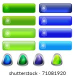 web shiny blue and green ... | Shutterstock .eps vector #71081920