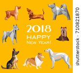 2018 happy new year greeting... | Shutterstock .eps vector #710821870