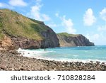 cobble beach  island of... | Shutterstock . vector #710828284