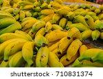 bananas for sale. background | Shutterstock . vector #710831374