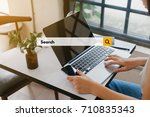 a concept of searching engine... | Shutterstock . vector #710835343