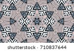 seamless striped vector pattern.... | Shutterstock .eps vector #710837644