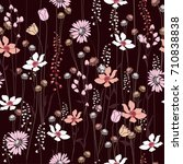 seamless pattern wind blow... | Shutterstock .eps vector #710838838